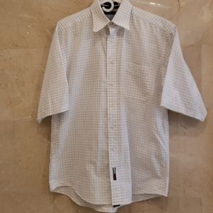 MEN'S TOMMY HILFIGER SHORT SLEEVE DRESS SHIRT